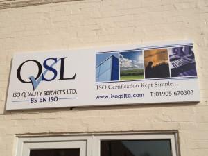 isoqsl signage front door