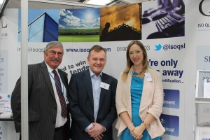 L-R: Peter Appleton (MD ISOQSL), Mark Hobart (MD Clearview), Jennifer Appleton (Operations, ISOQSL)
