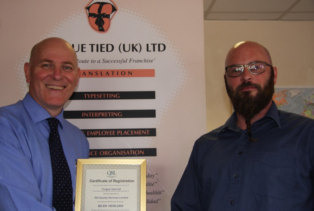 Tongue Tied Limited & UK TechTrans Limited - Presentation Photo 27-08-14