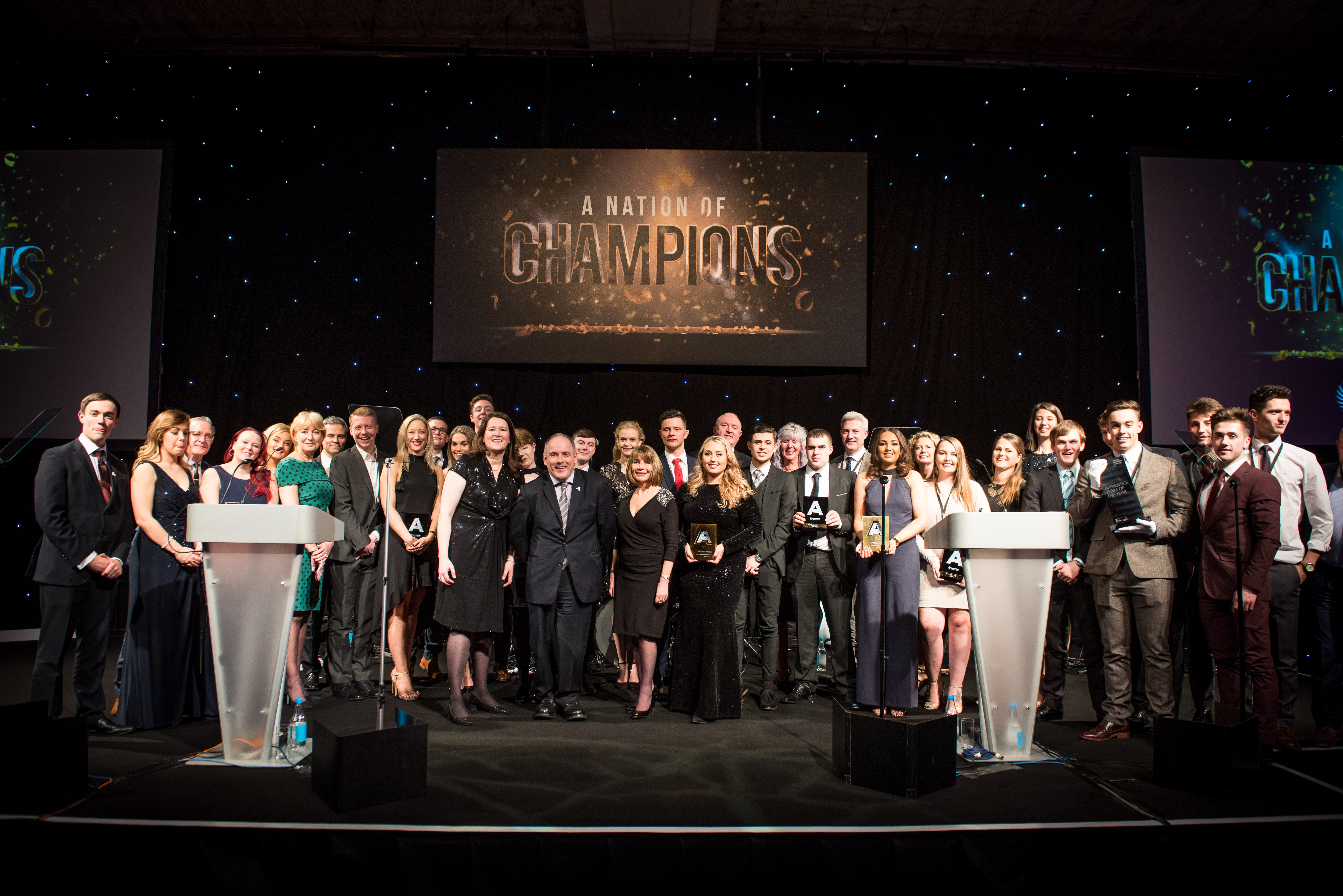 National Apprenticeship Awards 2016's Finalists at the final awards ceremony at The Grosvenor House Hotel, London. 20.01.17 Photographer: Mary Stamm-Clarke & Simon Johns
