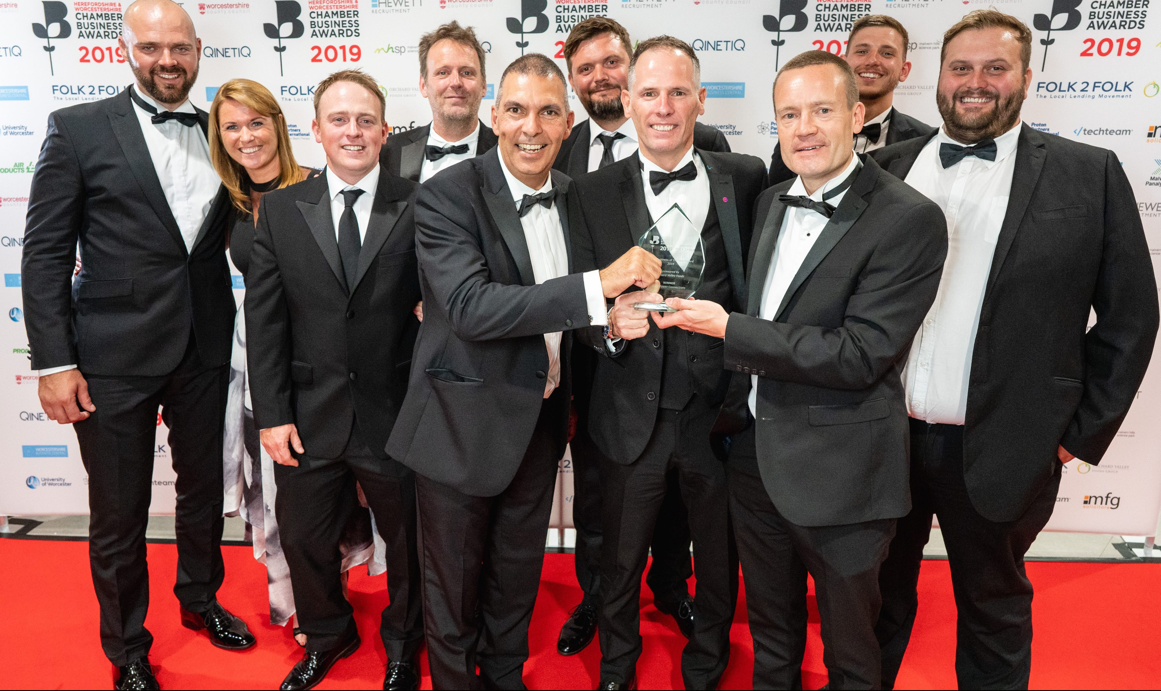 Rock Power Connections celebrating an awards win