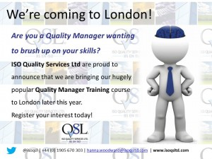 London Quality Manager